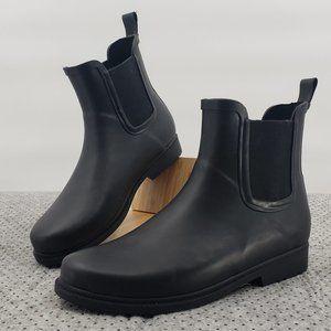 J. Crew Chelsea Matte Rain Boots Black - Size 9